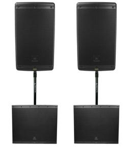 """2) JBL EON610 10"""" 2000 Watt Bluetooth Powered DJ PA Speakers"""