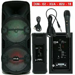 1200 WATTS Portable Powered DJ Speaker Work with iPhone Blue