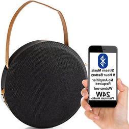 24W Waterproof Bluetooth Speaker -BLACK- Wireless Portable R