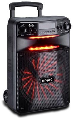 """Dolphin 2500W Rechargeable 12"""" Portable Bluetooth Speaker wi"""