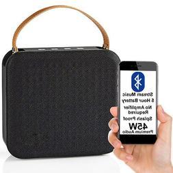 45W Waterproof Bluetooth Speaker -BLACK- Wireless Portable R