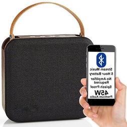 45W Waterproof Bluetooth Speaker -WOOD- Wireless Portable Re