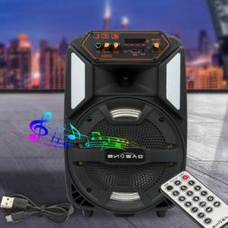 "8"" Portable Bluetooth Speaker Indoor / Outdoor, FM Radio, US"