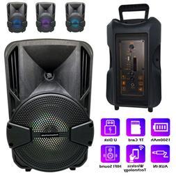 8'' Portable FM Bluetooth Speaker Subwoofer Heavy Bass Sound