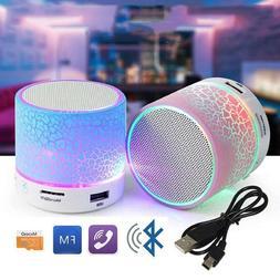 Wireless Bluetooth Speaker Mini Portable RGB LED Color Light