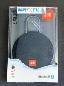 JBL JBLCLIP3BLK Waterproof Portable Bluetooth Speaker - Blac