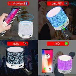 GETIHU Bluetooth Speaker Led Portable Mini Wireless Speaker