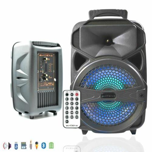 BT Party Speaker System Bluetooth Big Led Portable Stereo Ta