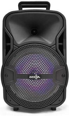 "Bluetooth 8"" PA Speaker 3000 Watt Loud Portable Microphone R"