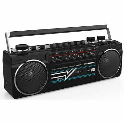 bluetooth cassette radio boombox portable speaker