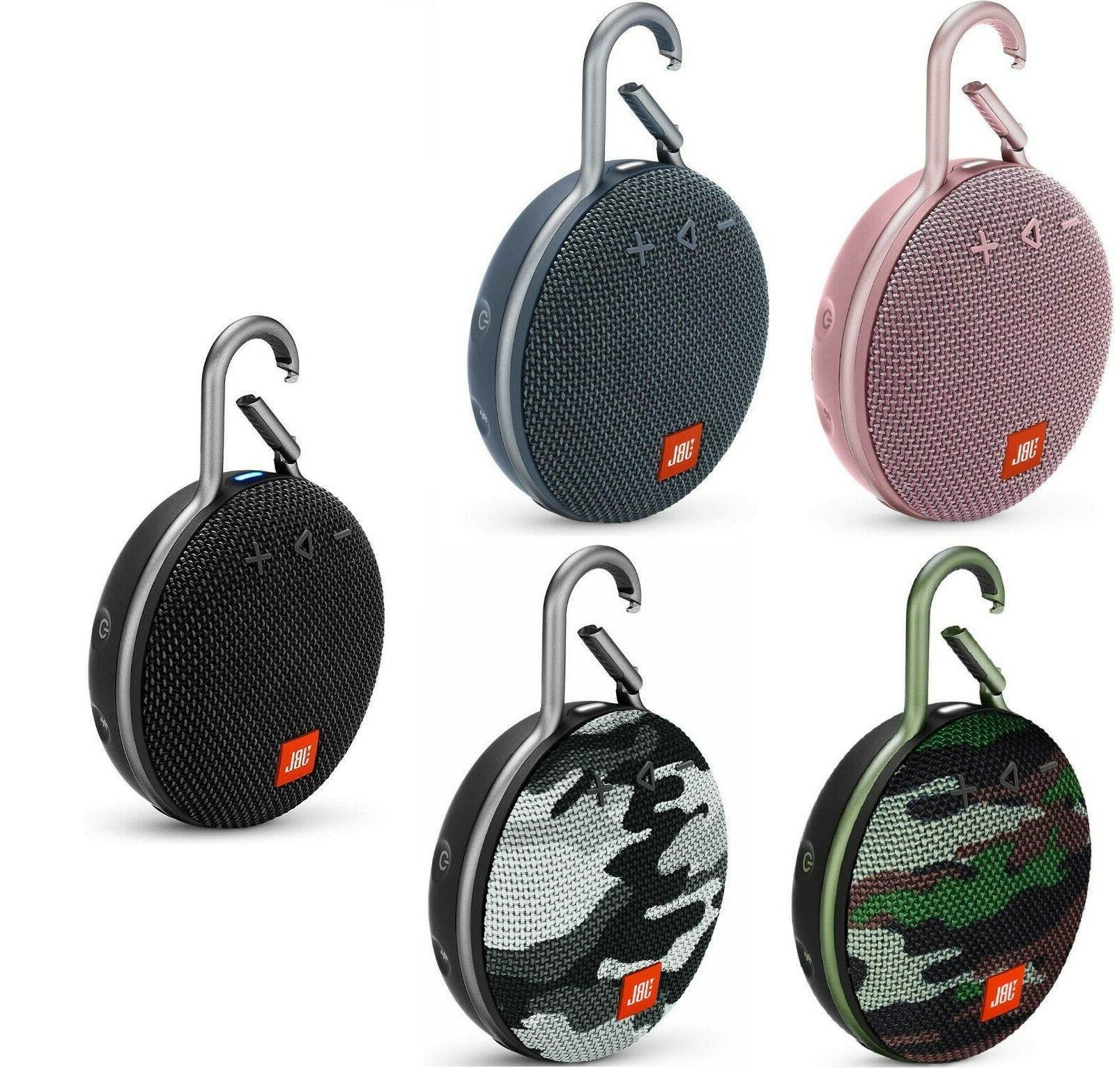 clip 3 bluetooth speaker rechargeable ipx7 waterproof