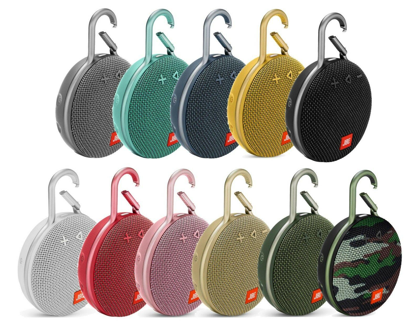 clip 3 rechargeable waterproof portable bluetooth speaker