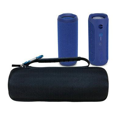 Portable Black Zipper Closure EVA Bluetooth Speaker Bag Trav