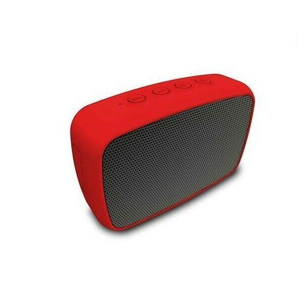 Red Portable 3.5mm Aux Bluetooth Wireless