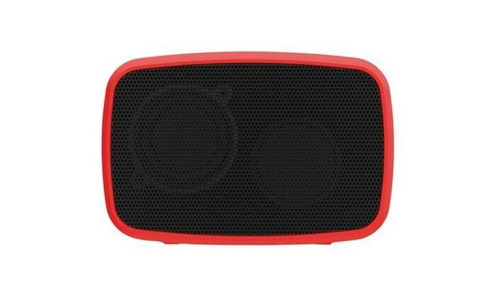red portable rechargeable with 3 5mm aux