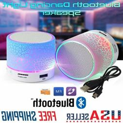 LED Portable Mini Bluetooth Speaker Wireless Bass Speaker W/