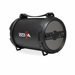 Axess Spbt1040Gy Portable Bluetooth 2.1 Hi-Fi Cylinder Loud