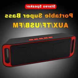 Wireless Bluetooth Speaker USB FM Stereo Mini Super Bass Por